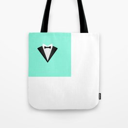 Black Tuxedo Suit with bow tie T-Shirt D946n Tote Bag
