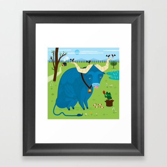 The Ox and The Frog Framed Art Print