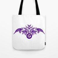 tatoo Tote Bags featuring tatoo design by Azeez Olayinka Gloriousclick