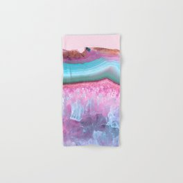 Rose Quartz and Serenity Agate Hand & Bath Towel