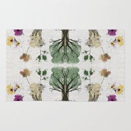 Tree Circle of Life Botanical Watercolor Rug