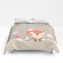 Christmas baby fox 03 Comforters