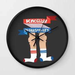 Knobby Philosophers  Wall Clock