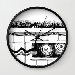 Pool Monster: Nightmares Are REAL! Wall Clock