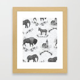 Political Toile Framed Art Print