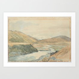 River Clarence, 1864, New Zealand, by James Crowe Richmond. Art Print