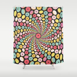 Donut Swirl Shower Curtain