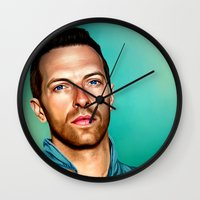 coldplay Wall Clocks featuring Blue Eyes by tillieke