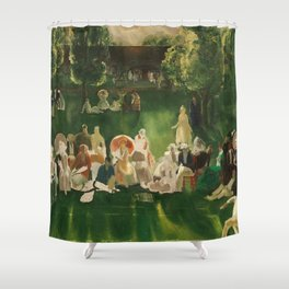 "Classical Masterpiece ""The Tennis Tournament"" by George Bellows, 1920 Shower Curtain"