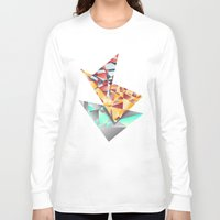 rush Long Sleeve T-shirts featuring Triangle Rush! by Hungry Design