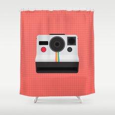Polaroid One Step Land Camera Shower Curtain