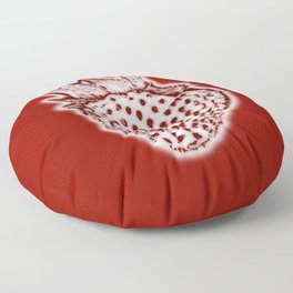 Red Strawberry Floor Pillow