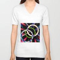 circles V-neck T-shirts featuring circles by haroulita
