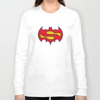 comic Long Sleeve T-shirts featuring Superbatman comic by victimArte