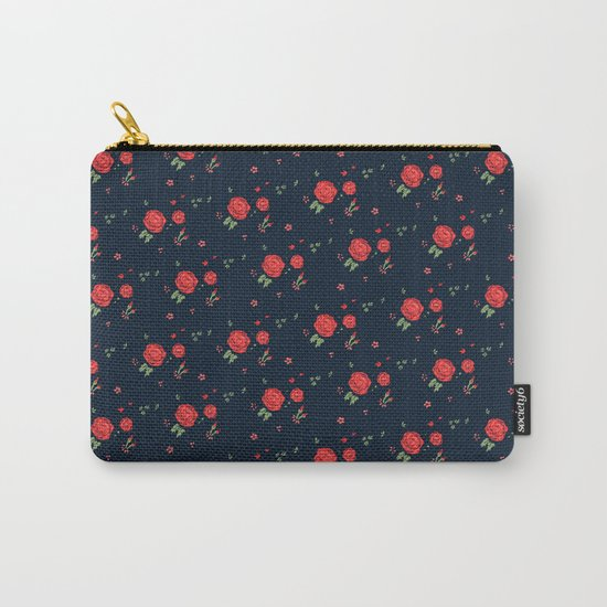 Classic western rose pattern Carry-All Pouch