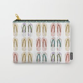 Multi-colored slates, flip-flops Carry-All Pouch