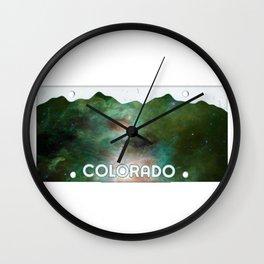 Colorado Plates Wall Clock