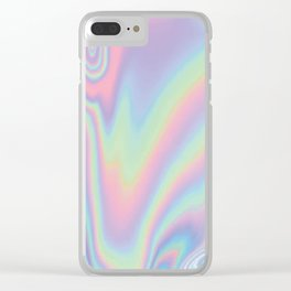Hologram Drip Clear iPhone Case