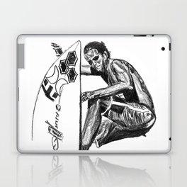 Surfer - Black and White Laptop & iPad Skin