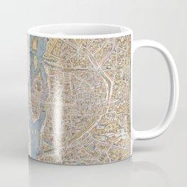Color Map of Paris Circa 1550 Coffee Mug