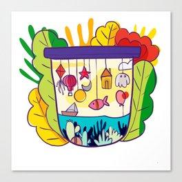 Modern floral pattern Canvas Print