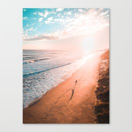 Sunset and me Canvas Print