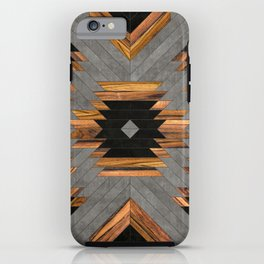 Urban Tribal Pattern 6 - Aztec - Concrete and Wood iPhone Case