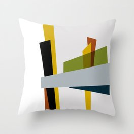 Mid Century Composition 3 Throw Pillow