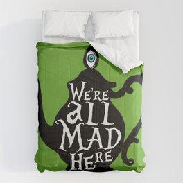 """""""We're all MAD here"""" - Alice in Wonderland - Teapot - 'Garden Green Comforters"""