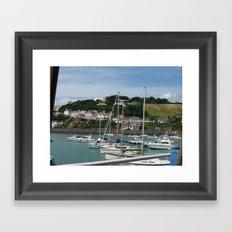 Boats in a Marina Framed Art Print