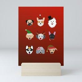 Christmas Dogs Mini Art Print