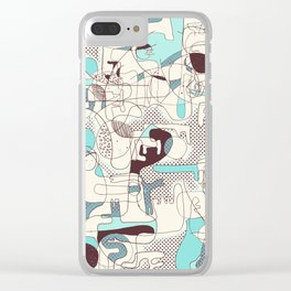 Soft worlds I Clear iPhone Case