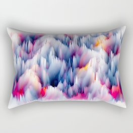 Abstract Colorful Waves Rectangular Pillow
