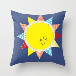 In the sun Throw Pillow