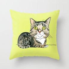Green-eyed Cat Throw Pillow
