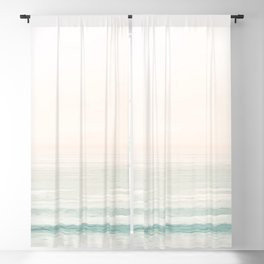 Washed Out Ocean Waves // California Beach Surf Horizon Summer Sunrise Abstract Photograph Vibes Blackout Curtain