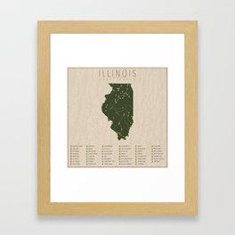 Illinois Parks Framed Art Print