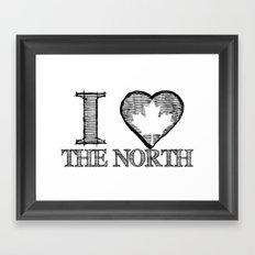 I Heart North Framed Art Print