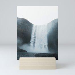 Blue Hour, Skogafoss, Iceland Mini Art Print