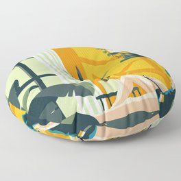 The Blue Hat Girl / Stay Home Floor Pillow