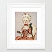marie antoinette Framed Art Prints featuring Marie Antoinette by Maripili