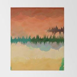 "Digital Abstract Landscape ""Minnesota Memories"" Throw Blanket"
