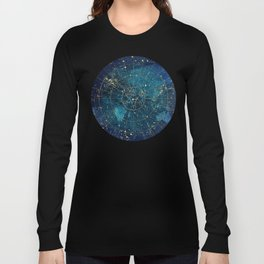 Star Map :: City Lights Long Sleeve T-shirt