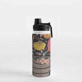 A cup of flowers Water Bottle