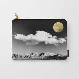 Black Desert Sky & Golden Moon // Red Rock Canyon Las Vegas Mojave Lune Celestial Mountain Range Carry-All Pouch