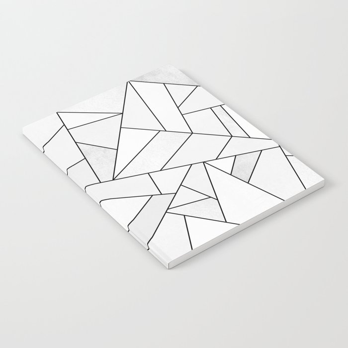 White Stone / Black Lines Notebook