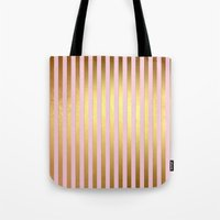 bisexual Tote Bags featuring Striped by Better HOME