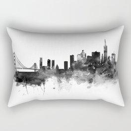 San Francisco Black and White Rectangular Pillow