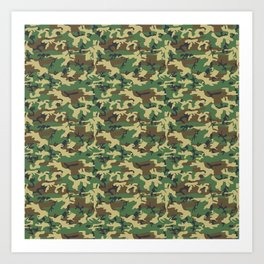 Military Camouflage Pattern - Brown Yellow Green Art Print