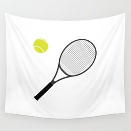 Tennis Racket And Ball 1 Wall Tapestry